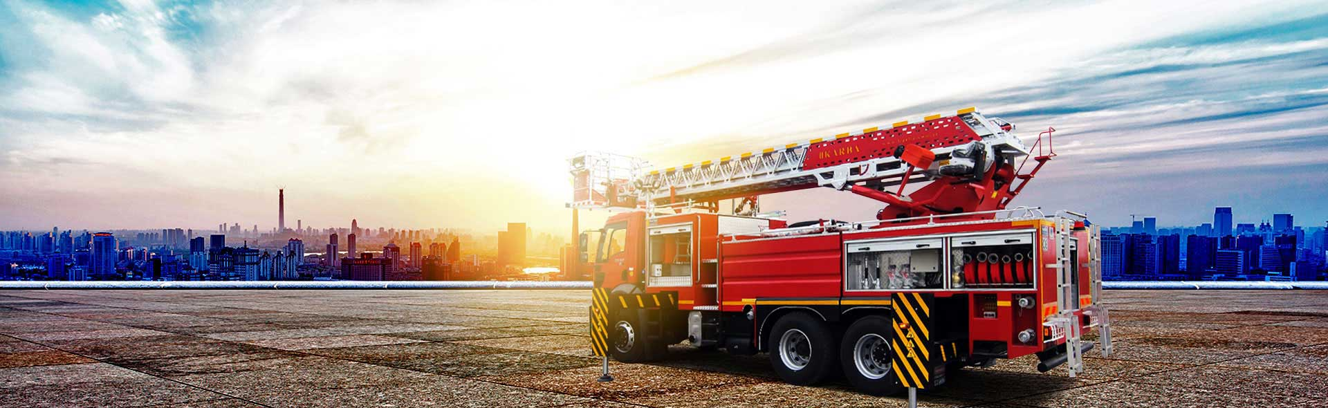 Hydraulic Ladder Fire Fighting Vehicles