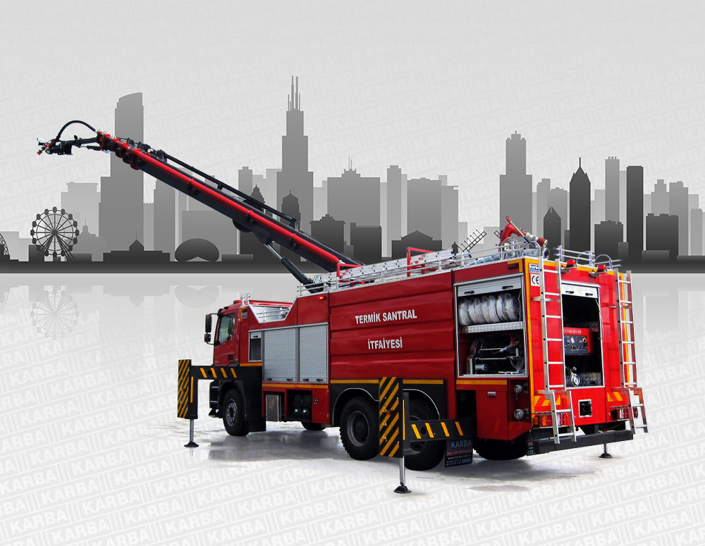 Telescopic Boom Fire Fighting Vehicles